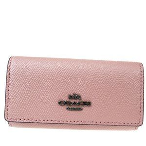 Coach 6 Hook 58359 Leather Key Case Pink